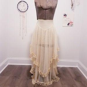 Free People lace ruffle skirt